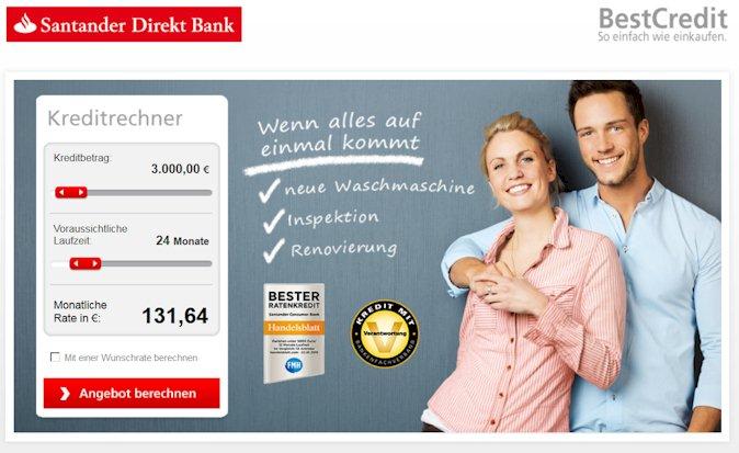 Santander direkt Kreditrechner