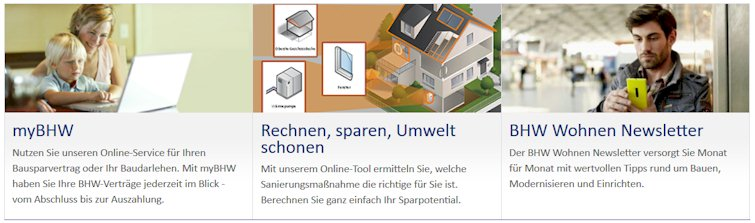 BHW Baufinanzierung Angebote